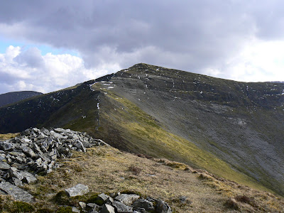 Looking up to one of my favourite Wainwright summits is Hopegill Head