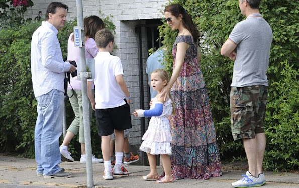 Crown Prince Frederik and his wife Crown Princess Mary their children Prince Christian, Princess Isabella, Prince Vincent and Princess Josephine