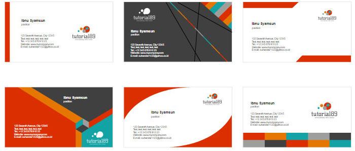 100+ contoh desain kartu nama keren siap pakai | Tutorial89