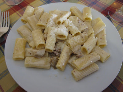 Rigatoni with porcini and sausage