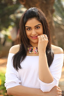 Adah Sharma in lovely Red Mini Skirt and Crop White Top from movie Garam WOW Spicy Cute Beauty