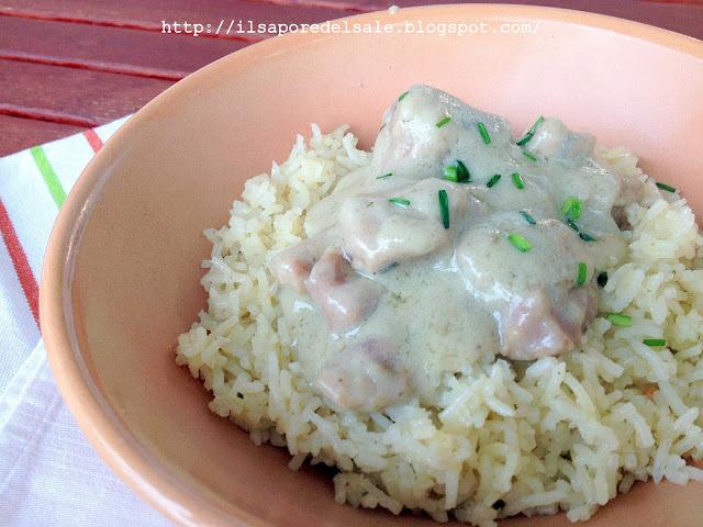 sapori d'oriente... spezzatino al latte di cocco con riso pilaf