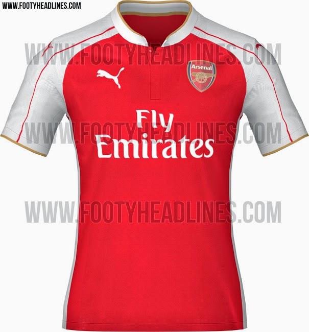 jual jersey arsenal home terbaru musim depan, berita jersey terabru arsenal musim depan 2015/2016
