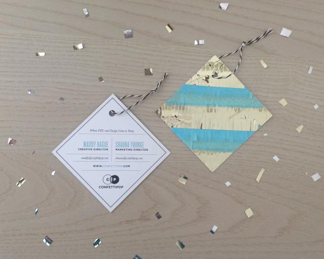 Confetti Pop fringed piñata Alt Summit 2013 business cards