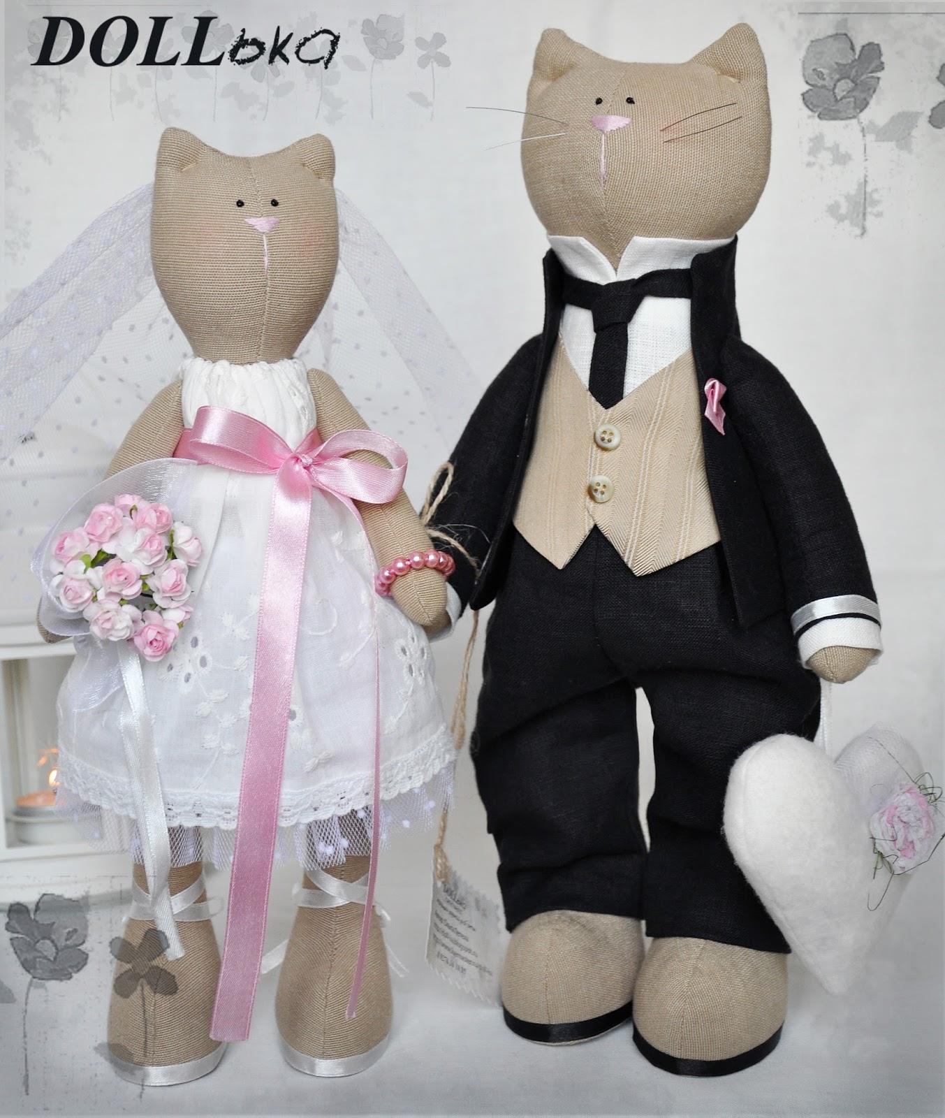 кошачья свадьба текстильные игрушки ручной работы