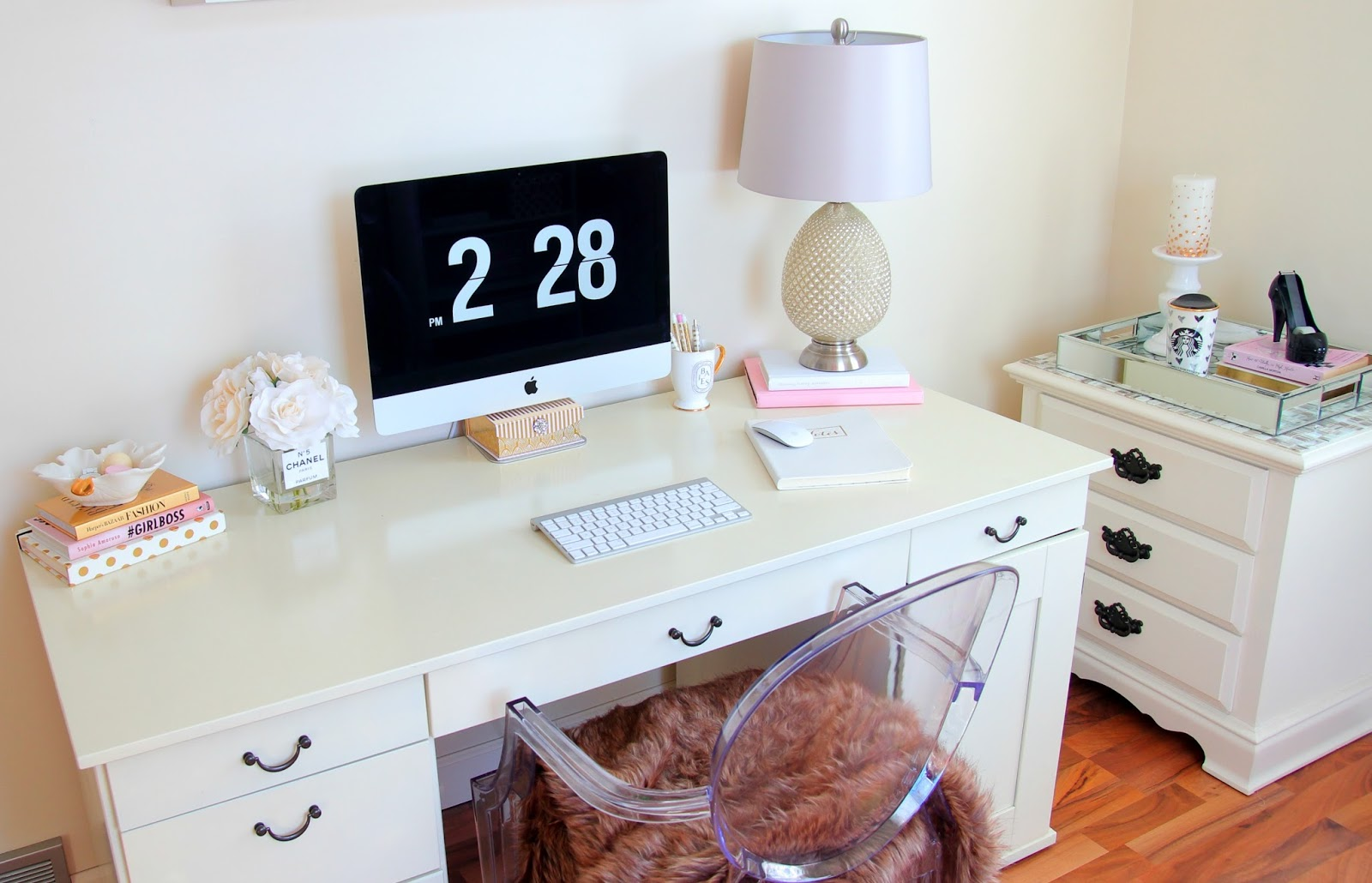 Desk Organization - Girly Desk - Girly Office - Ikea Desk