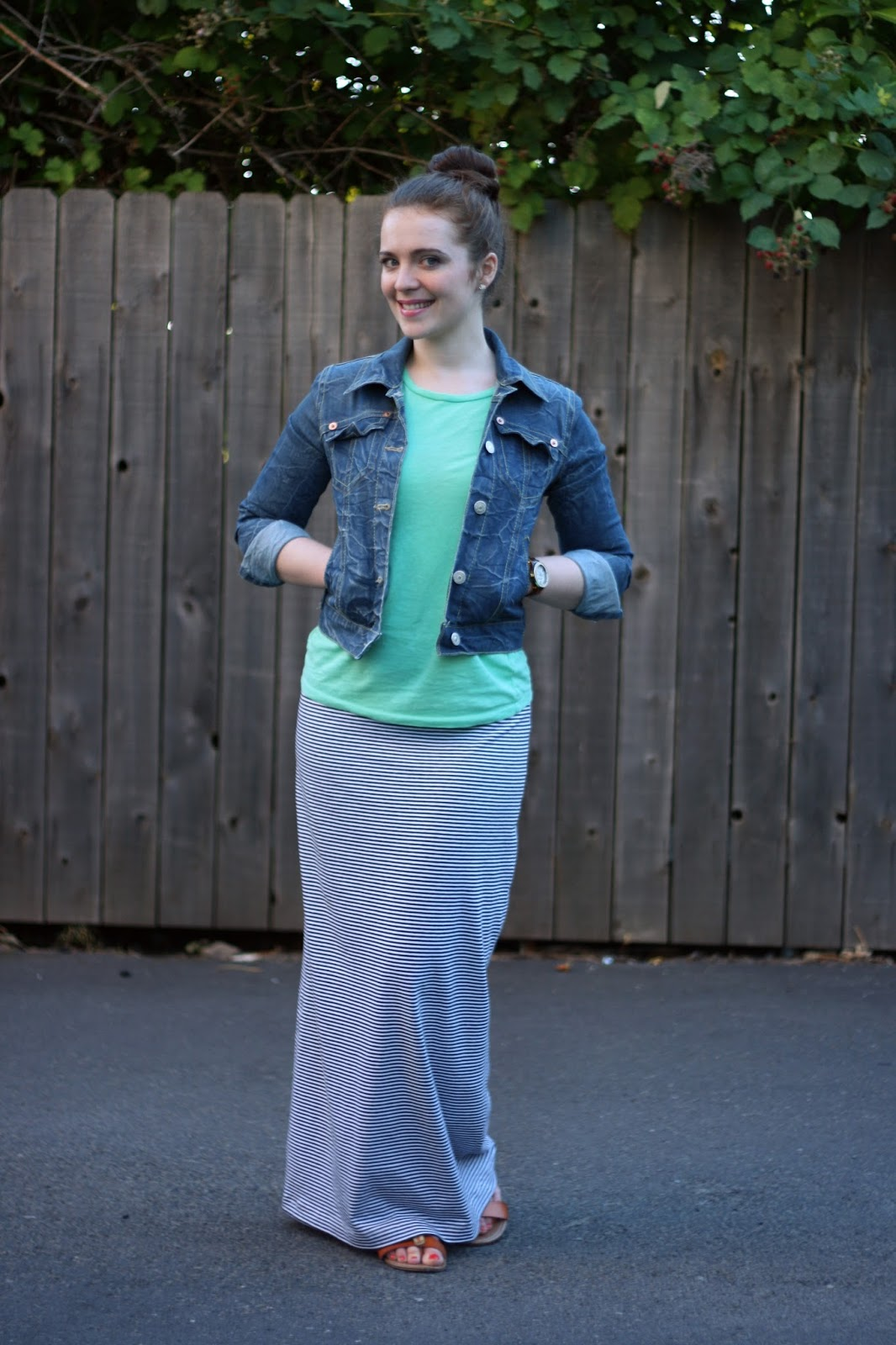 How to Wear DIY: The long striped maxi skirt to work / Create / Enjoy