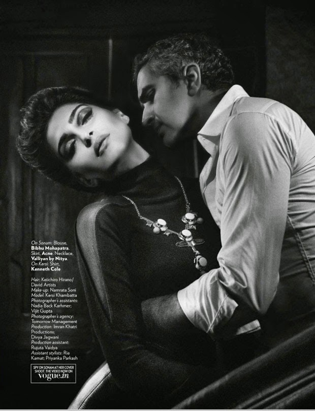 Sonam Kapoor Vogue Magazine September Issue 2014 Stills