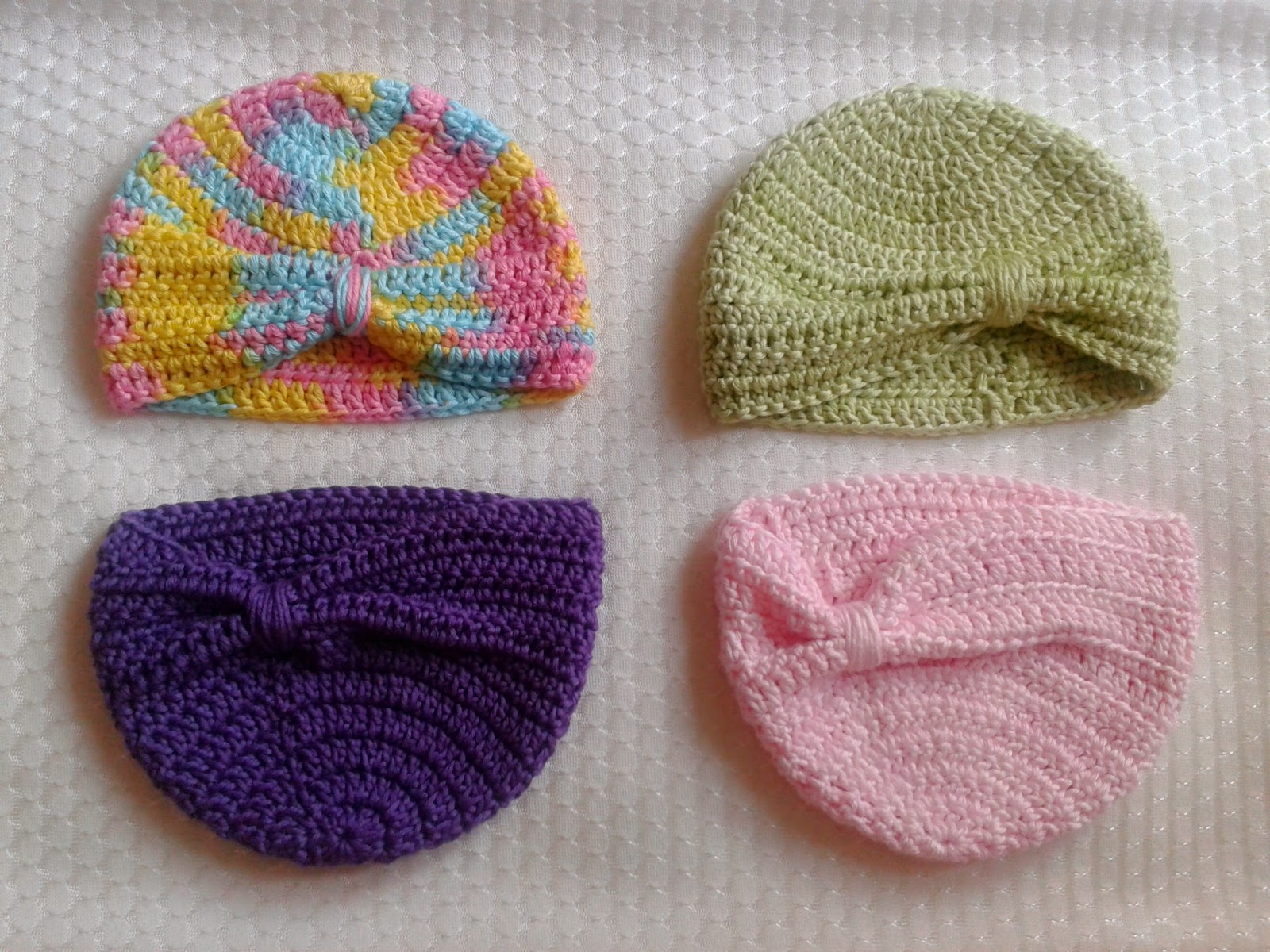 Free Crochet Pattern Baby Turban : Diamond Mind