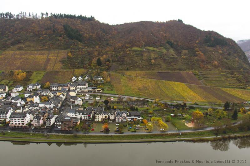 Cochem e Rio Mosel vistos do Castelo de Reichsburg