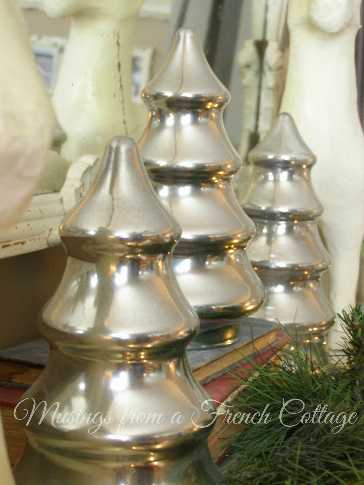 The little french farmhouse diy mercury glass christmas trees