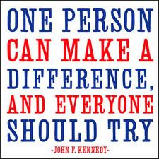 JFK Quote, make a difference, make a difference quote, Kennedy, democrat quote
