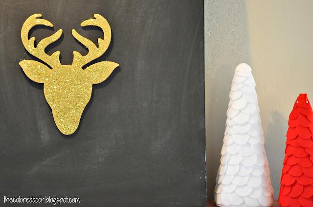 Glitter Reindeer - the colored door