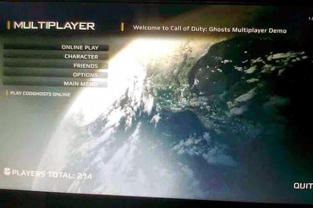 Call of duty Ghosts Multiplayer Online Game play