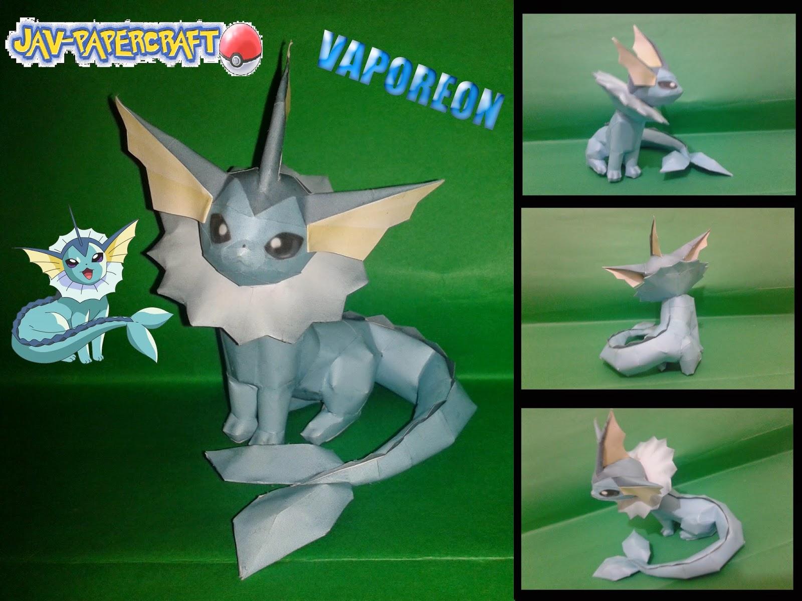Vaporeon Paper Model