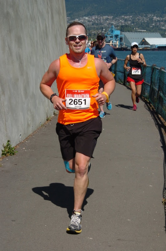Running Stanley Park Seawall Vancouver Marathon