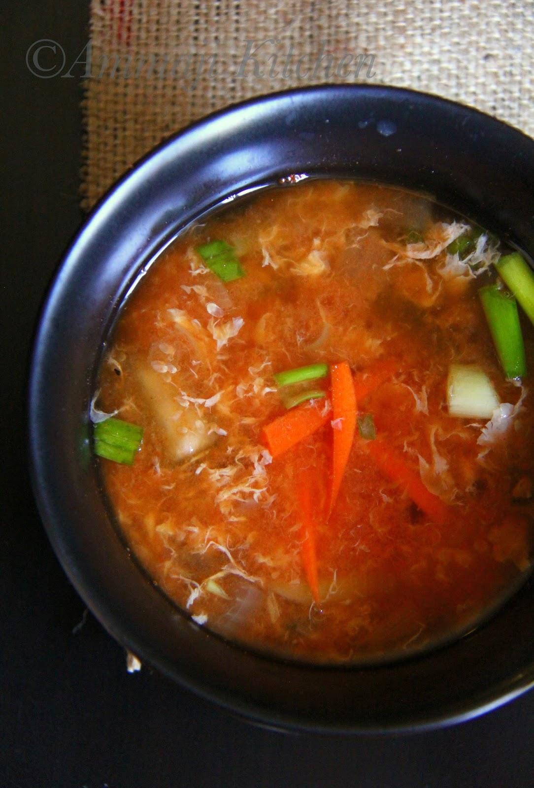 Kimchi Egg Drop Soup