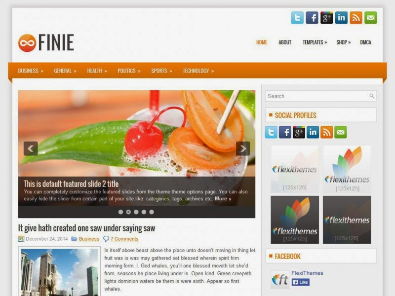 Finie - Free Wordpress Theme