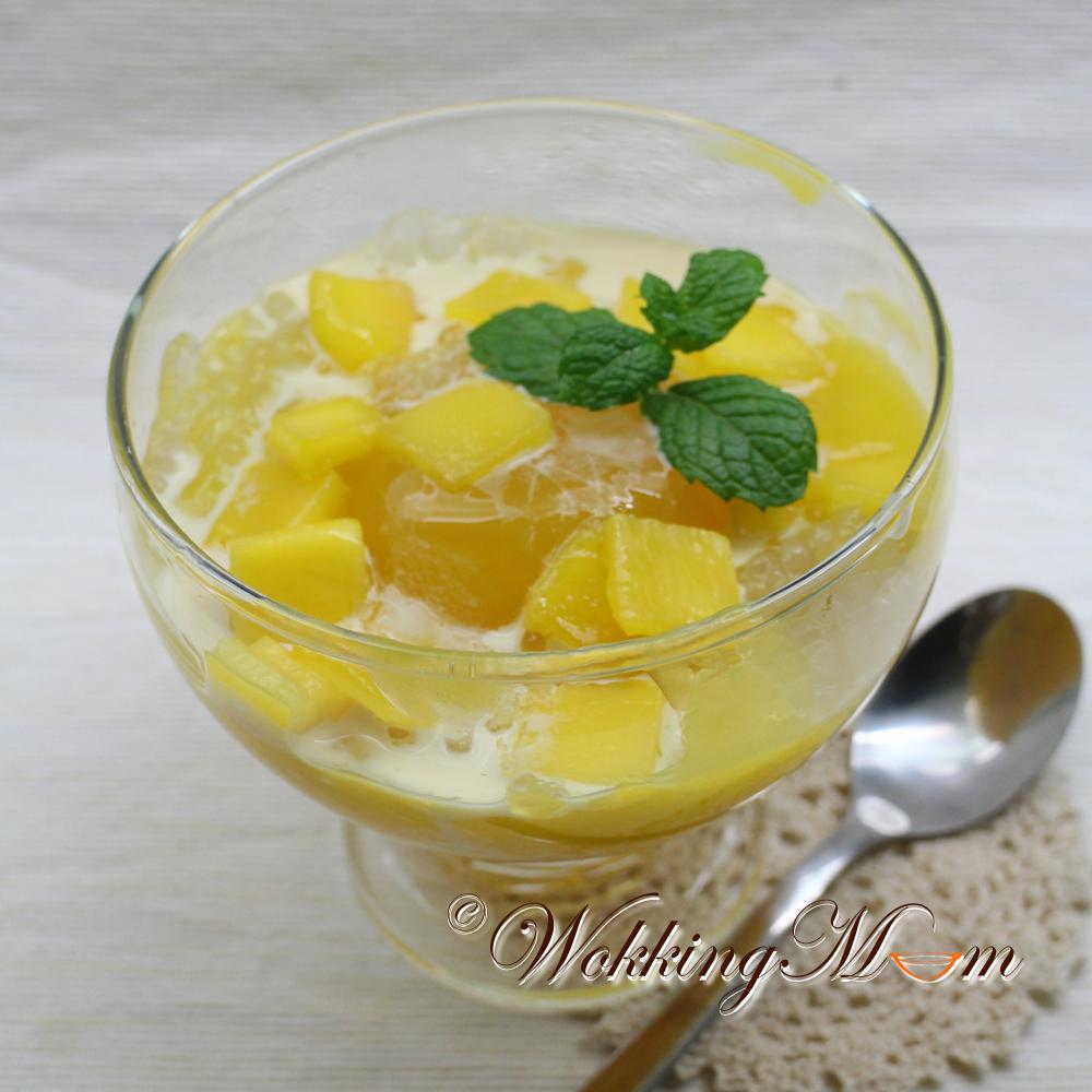 mango jello with sago
