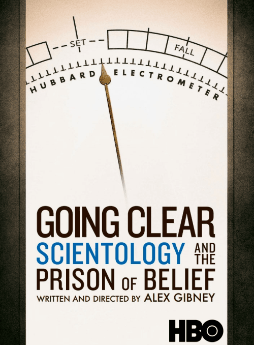 "HBO Documentary Films Poster for ""Going Clear: Scientology and the Prison of Belief"""