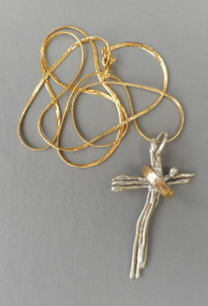 Sterling and 14K Cross