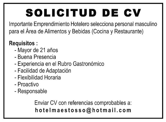 ESPACIO PUBLICITARIO: SOLICITUD DE C.V.