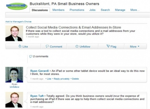 Develop the discussion in LinkedIn to the level of blog notes