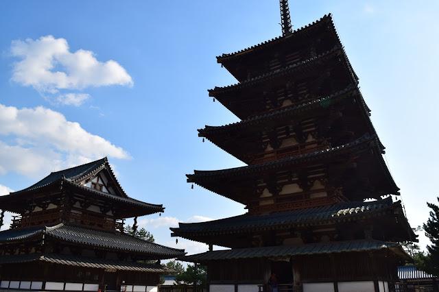 Horyuji, Japanese temple, Nara