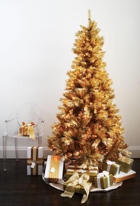 Eternamente mia rboles de navidad - Arbol de navidad dorado ...