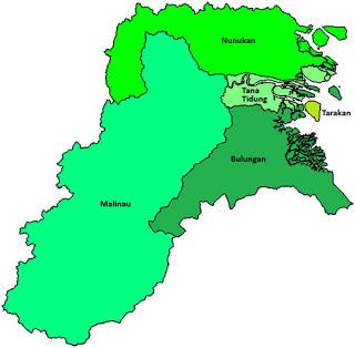 Peta Propinsi Kalimantan utara