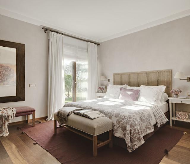 dormitorio color lavanda