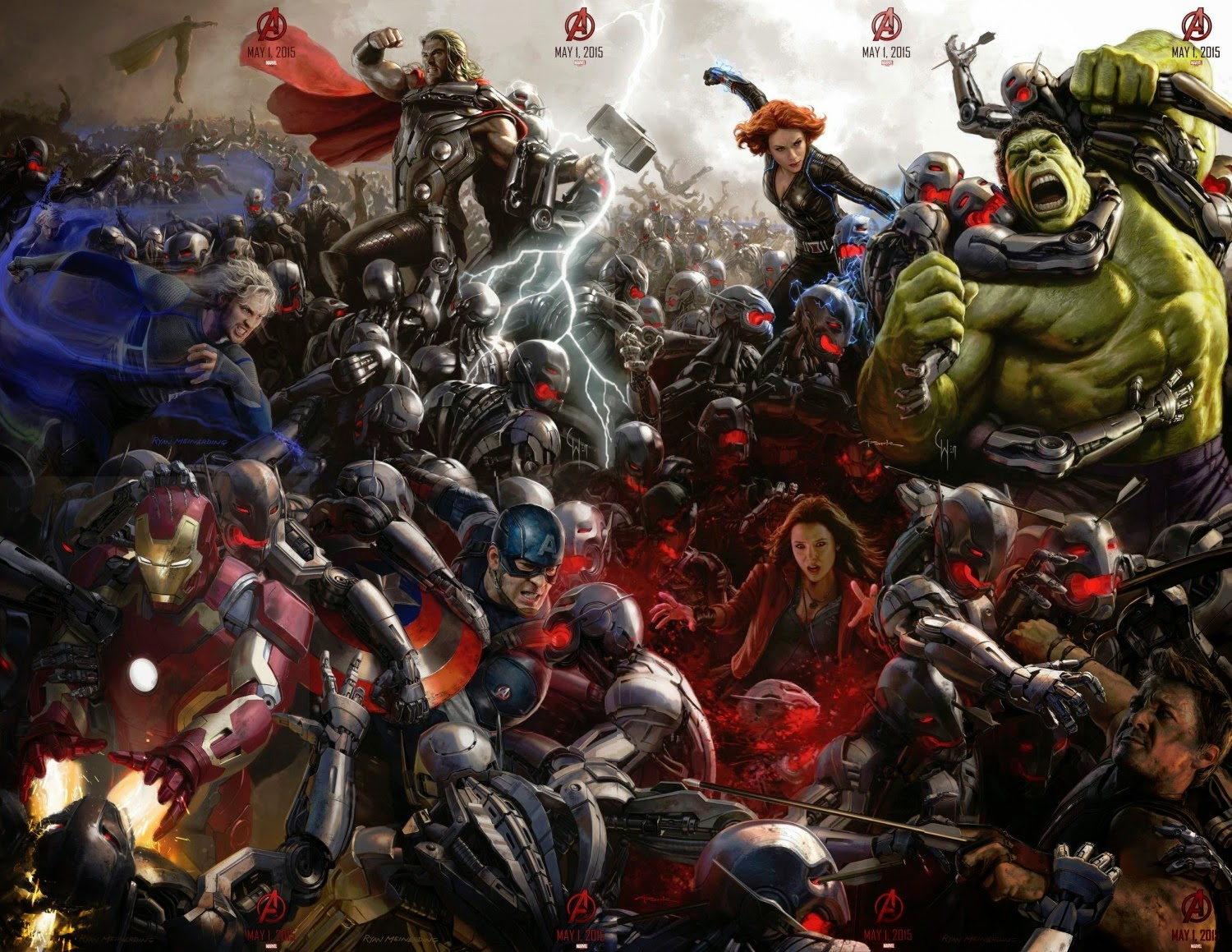 San Diego Comic-Con 2014 Exclusive Avengers Age of Ultron Concept Art Movie Posters by Marvel