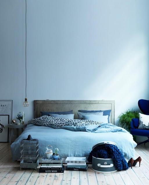 Dormitorio en color azul serenidad 1014341