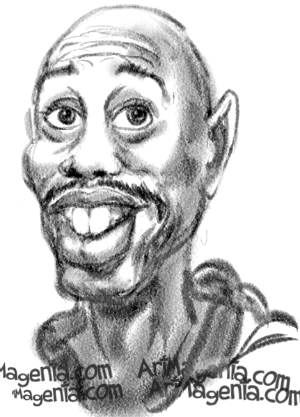 Dave Chappelle is a caricature by caricaturist Artmagenta
