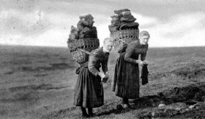 Image result for baskets on the back  peat carrying