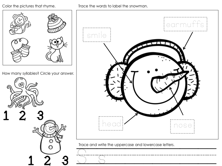 math worksheet : kearson s classroom let s make a snowman! : Snowman Worksheets Kindergarten