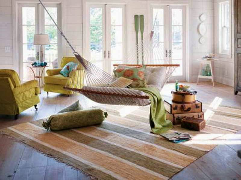 Hammock beds interiors blog for Living room hammock