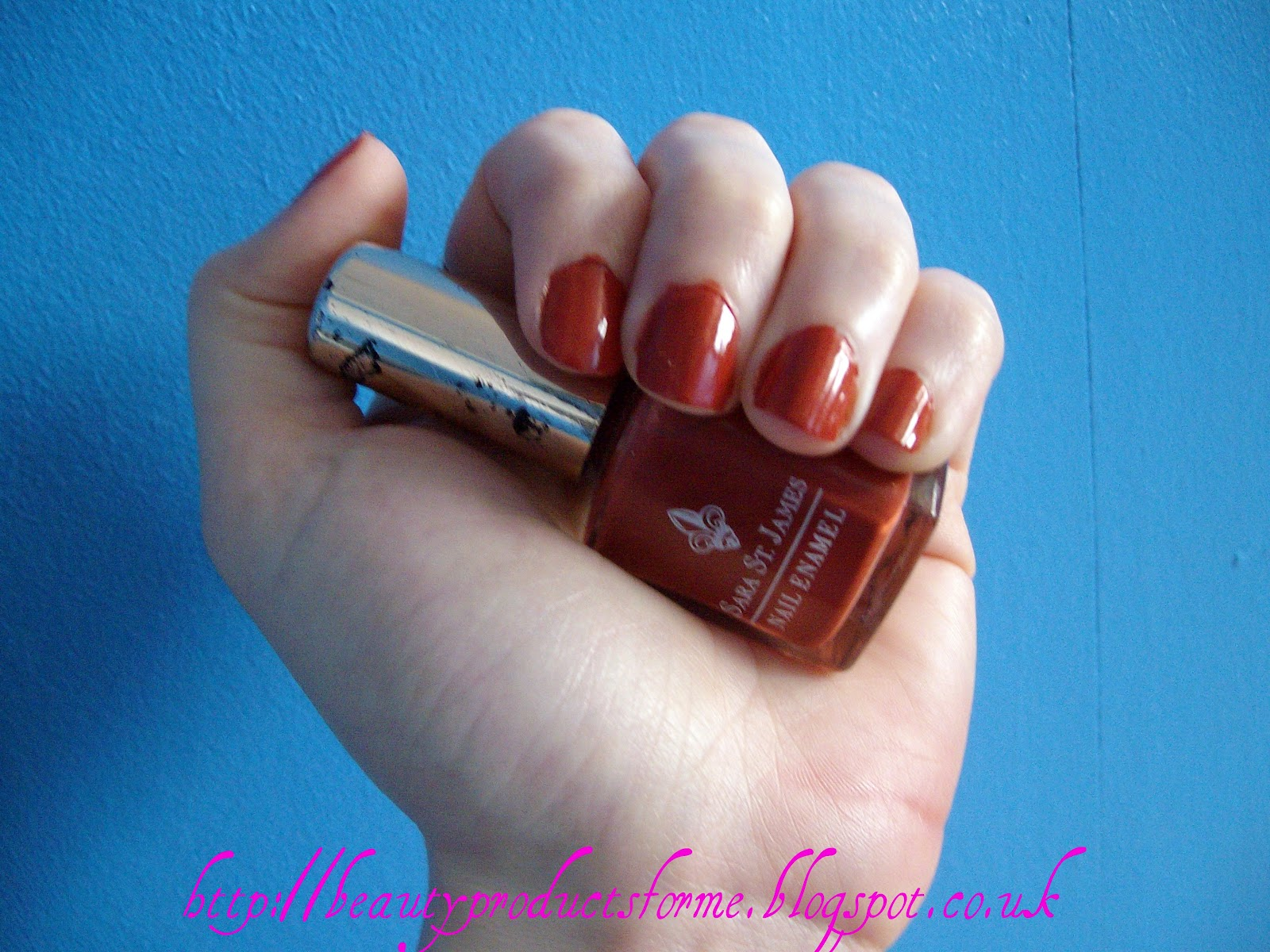 NOTD: Sara St James Cinnamon Nail Polish