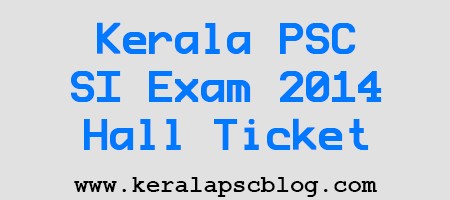 Download Sub Inspector Exam 2014 Hall Ticket