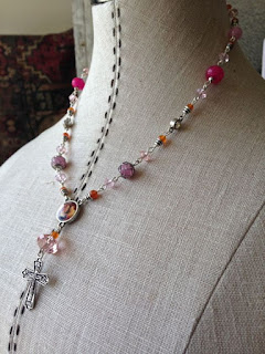 OOAK mixed stone necklace with vintage components by The Pickled Hutch