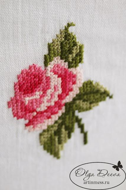 Альбом с вышитой розой / Album with cross-stitching rose