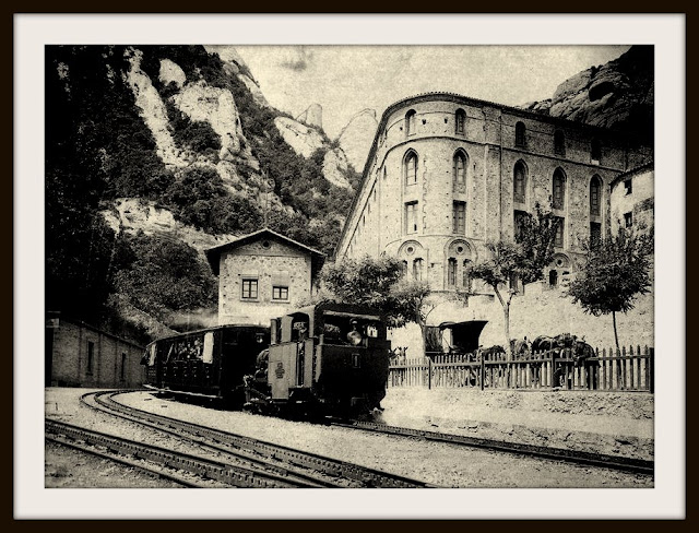 monasterio montserrat sierra cremallera tren