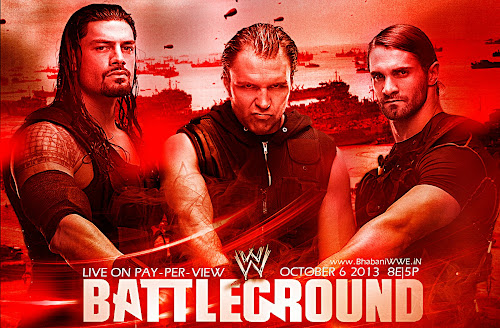 Download WWE Battleground HQ Un-Official Wallpaper (feat. The Shield: Seth Rollins, Roman Reigns & Dean Ambrose) + 3D, wwe Battleground poster, Battleground hq hd wallpaper, 1080i, 720p