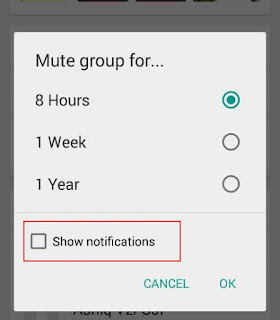 Whatsapp group settings for disable notification