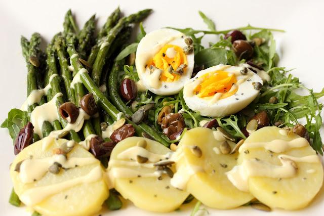 insalata asparagi, uova, patate
