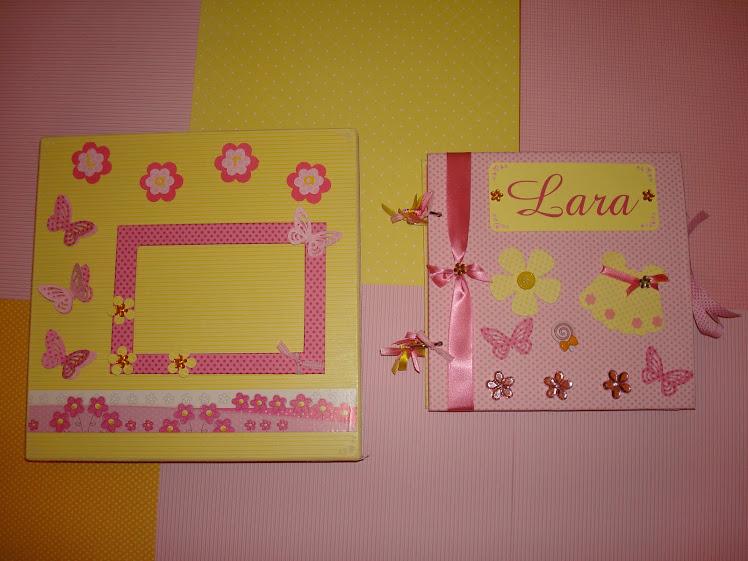 Álbum Menina rosa com amarelo