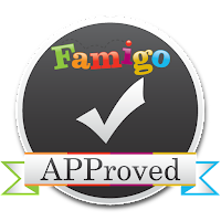 Famigo APProved badge for Best Puzzle Apps