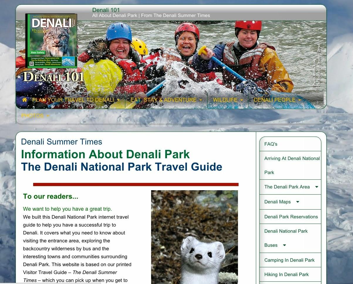 Denali Summer Times Denali101 Site