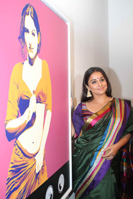 Bollywood Actress Vidya Balan Hot Saree Photos