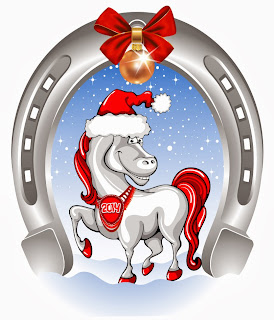 Christmas-Horse-Ribbon-Ball-Vector